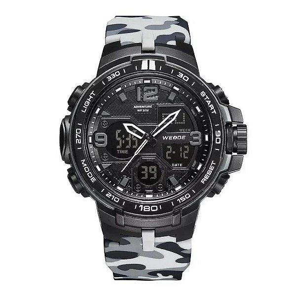 Relógio Masculino Weide AnaDigi WA3J8005 - Preto Camuflado