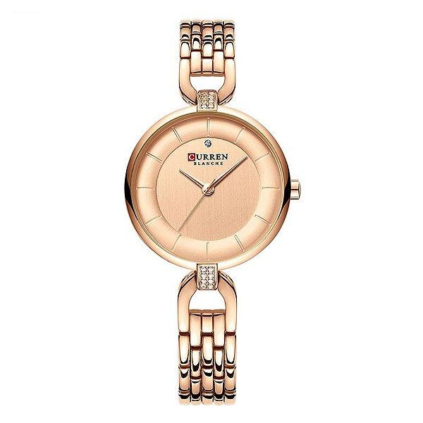 Relógio Feminino Curren Analógico C9052L - Rose