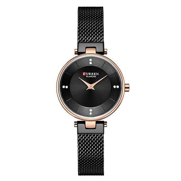 Relógio Feminino Curren Analógico C9031L - Preto