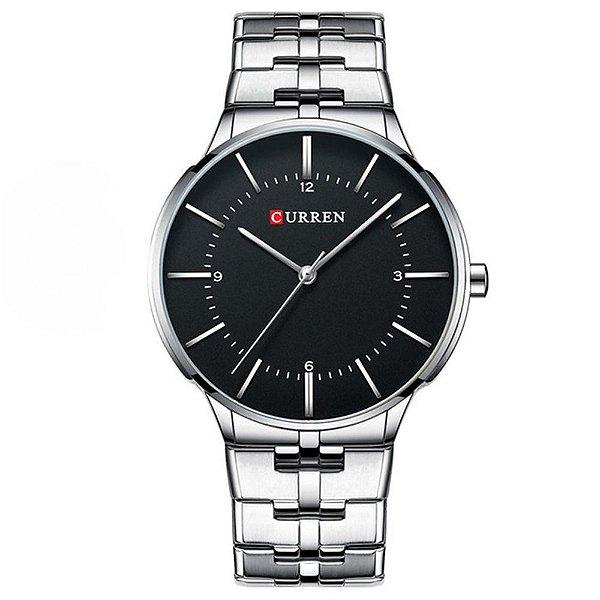 Relógio Masculino Curren Analógico 8321 - Prata e Preto