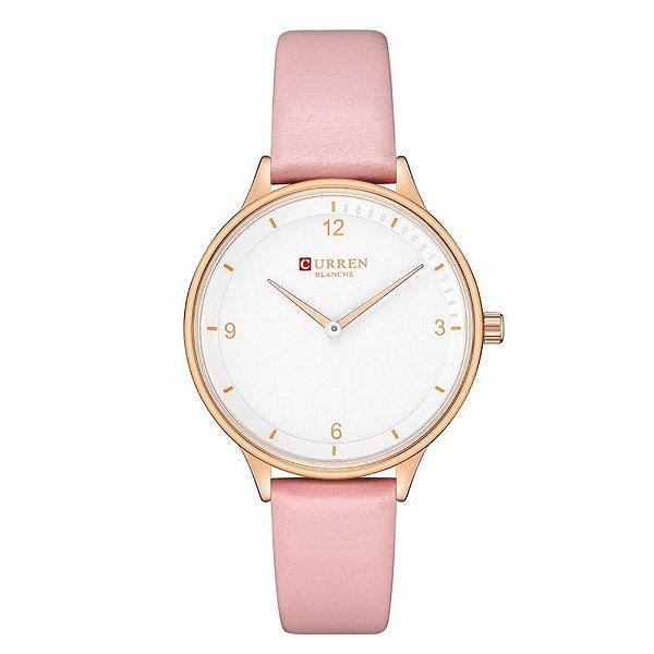 Relógio Feminino Curren Analógico C9039L - Rosa