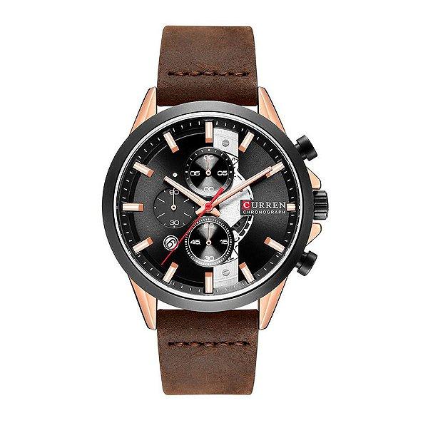 Relógio Masculino Curren Analógico 8325 - Preto e Marrom