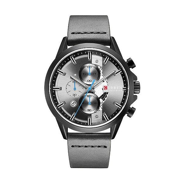 Relógio Masculino Curren Analógico 8325 - Preto e Cinza
