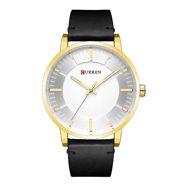 Relógio Masculino Curren Analógico 8332 - Preto e Dourado