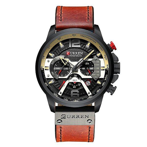 Relógio Masculino Curren Analógico 8329 - Preto e Marrom