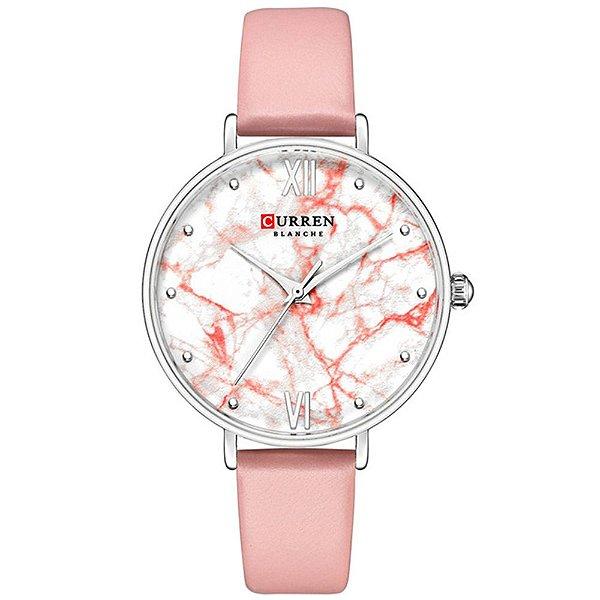 Relógio Feminino Curren Analógico C9045L - Rosa e Prata