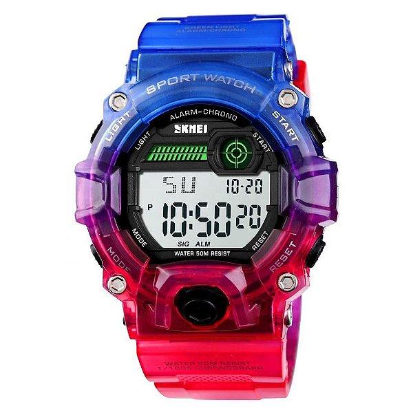 Relógio Unissex Skmei Digital 1197 - Azul e Roxo