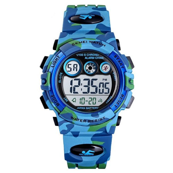 Relógio Infantil Menino Skmei Digital 1547 - Azul Camuflado