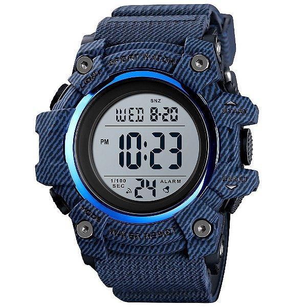 Relógio Infantil Menino Skmei Digital 1552 - Azul