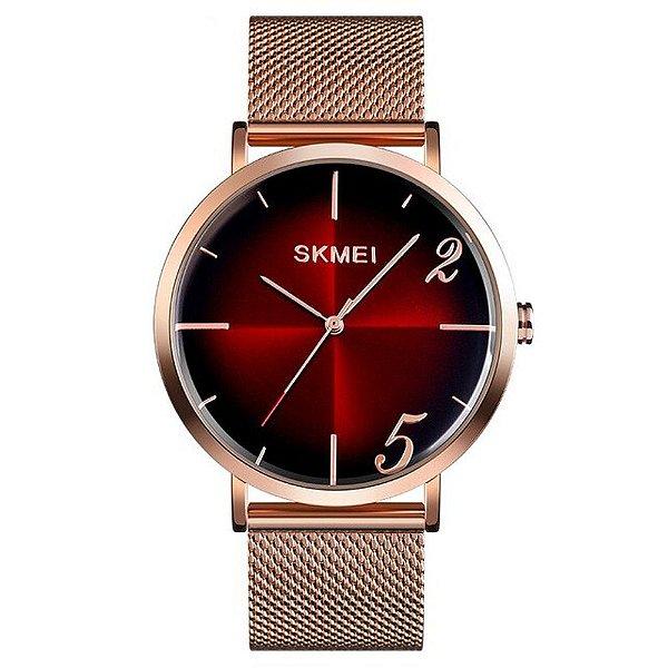 Relógio Feminino Skmei Analógico 9200 - Rose e Vermelho