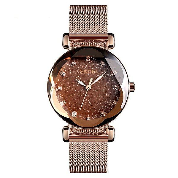 Relógio Feminino Skmei Analógico 9188 - Rosê