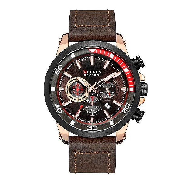 Relógio Masculino Curren Analógico 8310 - Marrom e Rosê