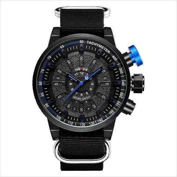 Relógio Masculino Weide Analógico WH7306 - Preto e Azul