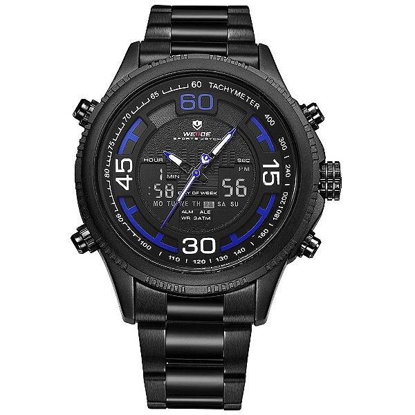 Relógio Masculino Weide AnaDigi WH-6306 - Preto e Azul