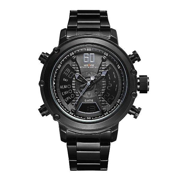 Relógio Masculino Weide AnaDigi WH-6905 - Preto e Cinza