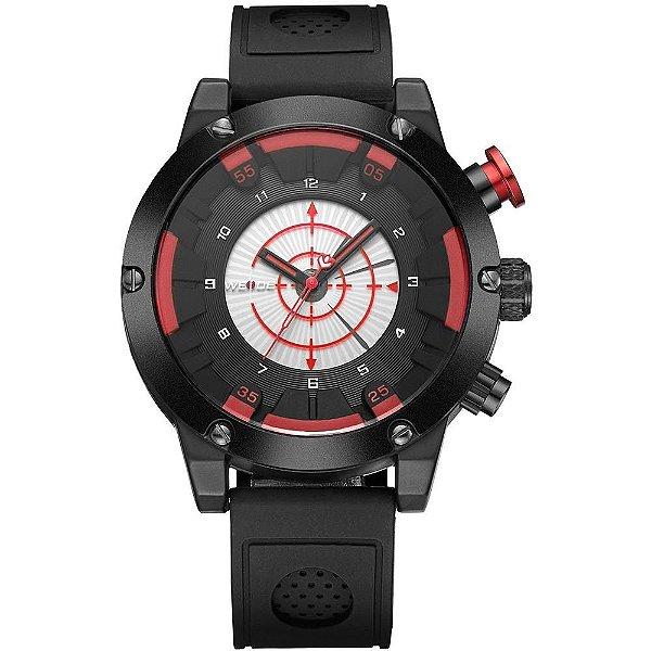 Relógio Masculino Weide Analógico WH-6301 - Preto e Vermelho