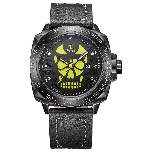 Relógio Masculino Weide Analógico UV-1510 - Preto e Amarelo