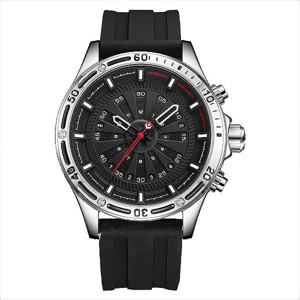 Relógio Masculino Weide Analógico WH-7308 - Preto e Prata