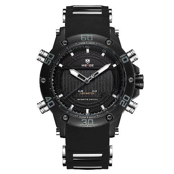 Relógio Masculino Weide AnaDigi WH-6910 - Preto e Cinza