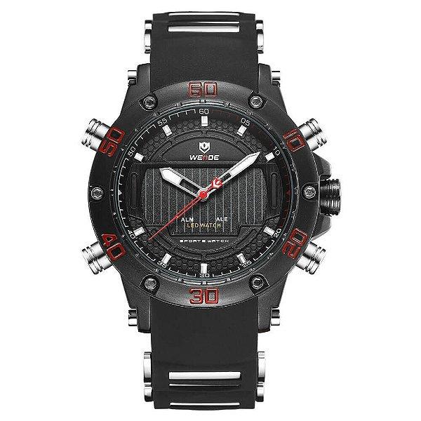 Relógio Masculino Weide AnaDigi WH-6910 - Preto e Vermelho