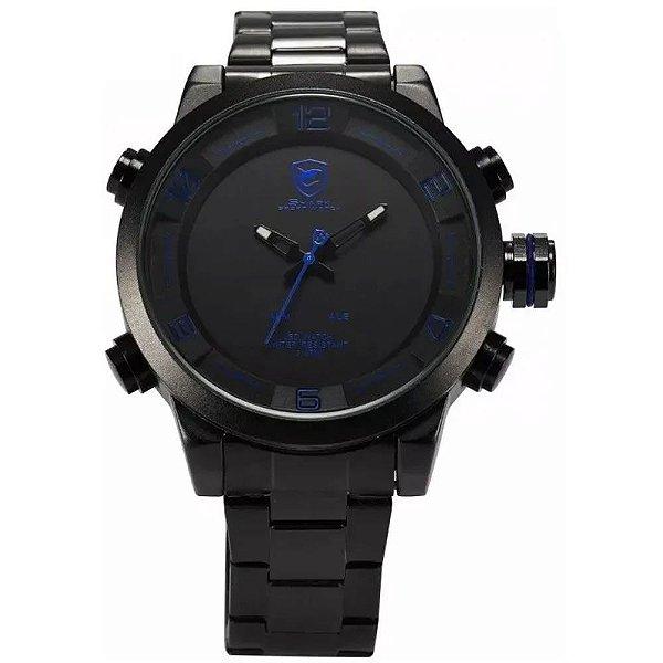 Relógio Masculino Shark AnaDigi DS025S - Preto e Azul