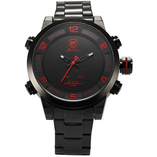 Relógio Masculino Shark AnaDigi DS025S - Preto e Vermelho