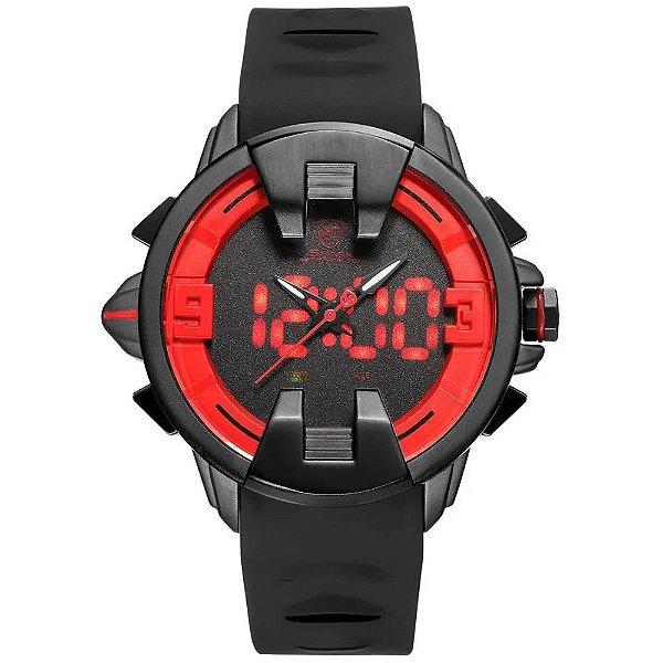 Relógio Masculino Shark AnaDigi DS0331 - Preto e Vermelho