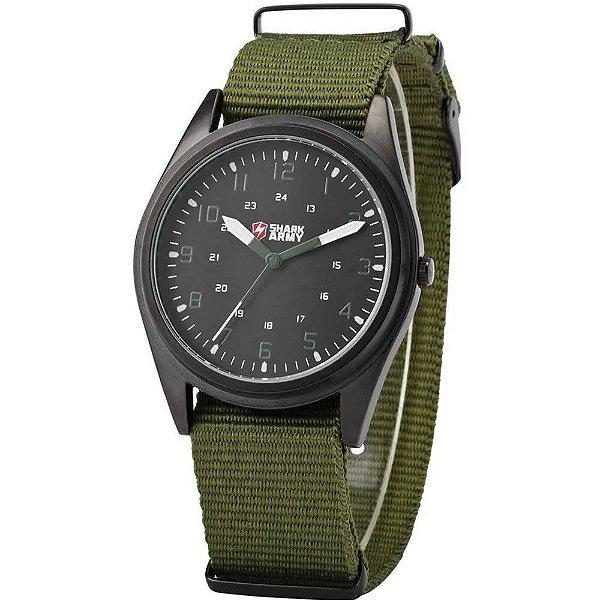 Relógio Masculino Shark Analógico M1A1 - Preto e Verde