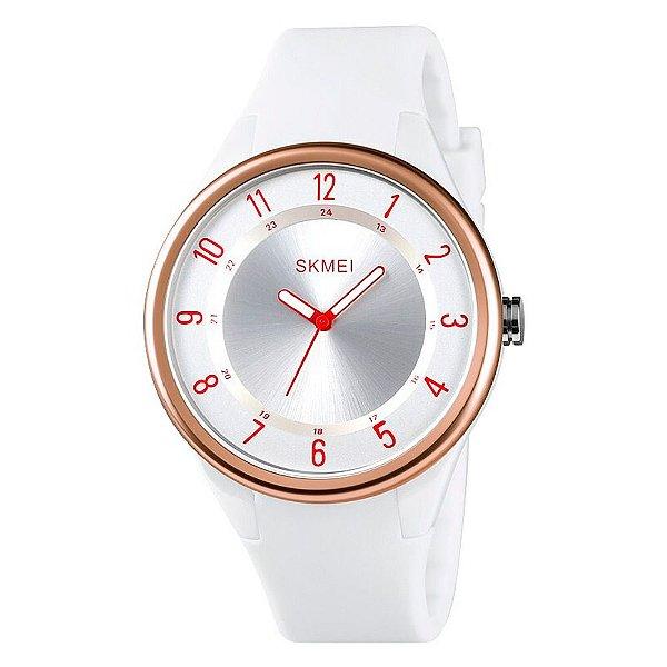 Relógio Feminino Skmei Analógico 1590 - Branco