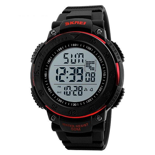 Relógio Masculino Skmei Digital 1237 - Preto e Vermelho