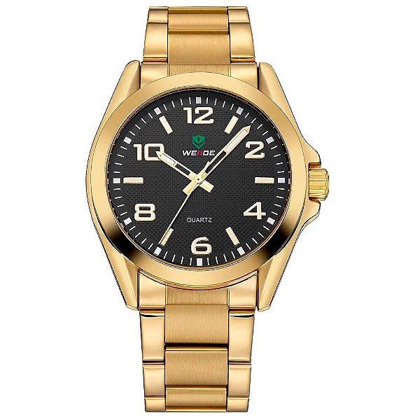 Relógio Masculino Weide Analógico WH801G - Dourado e Preto