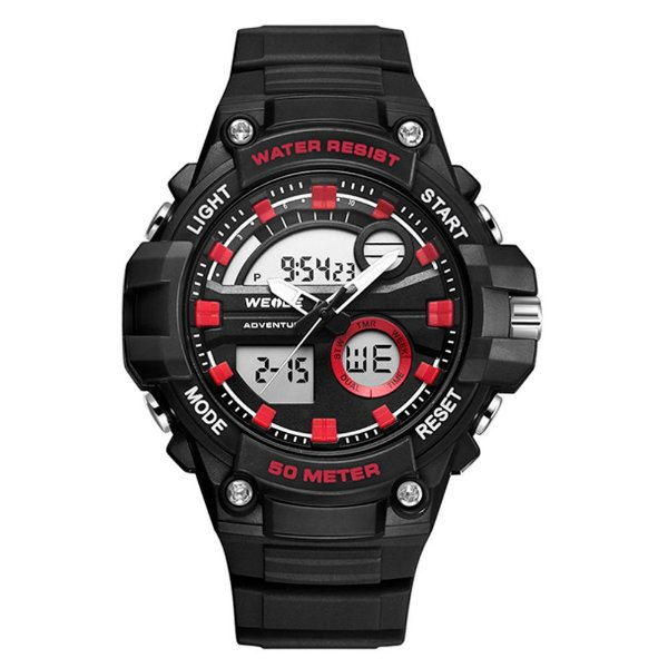 Relógio Masculino Weide AnaDigi WA3J8010 - Preto e Vermelho