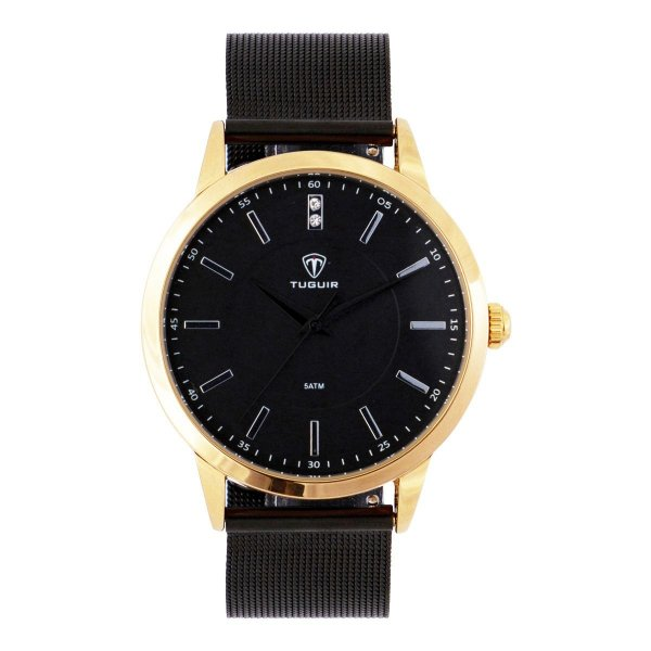 Relógio Feminino Tuguir Analógico TG106 - Preto e Dourado