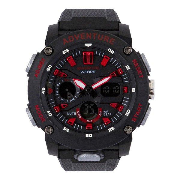 Relógio Masculino Weide AnaDigi WA3J9002 - Preto e Vermelho