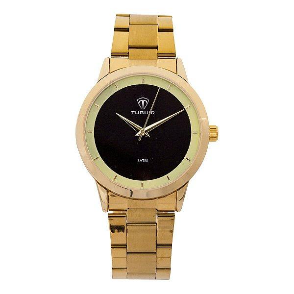 Relógio Feminino Tuguir Analógico TG113 - Dourado e Preto