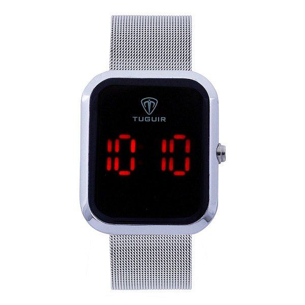 Relógio Unissex Tuguir Digital TG110 - Prata