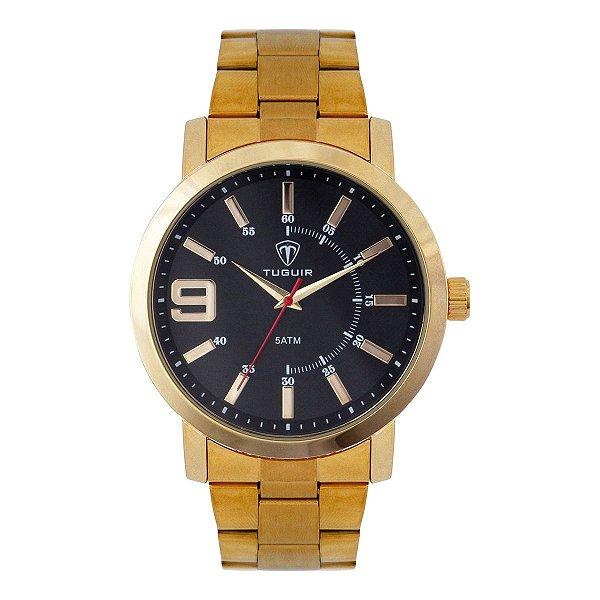 Relógio Masculino Tuguir Analógico TG119 - Dourado e Preto