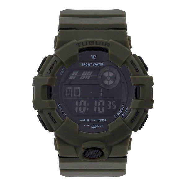 Relógio Masculino Tuguir Digital TG129 - Verde e Preto