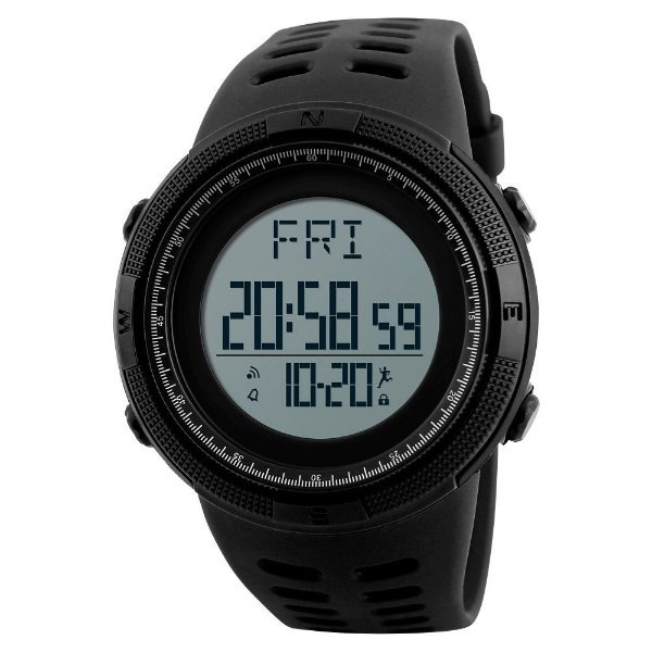 Relógio Pedômetro Masculino Skmei Digital 1295 - Preto