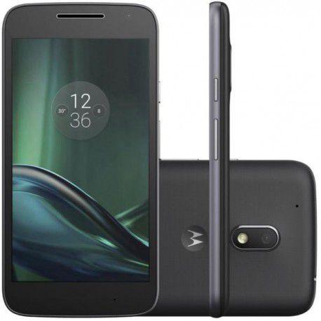 "Smartphone Motorola Moto G4 Play XT1601 16GB LTE  1Sim Tela 5.0"" Câm.8MP+5MP-Preto"