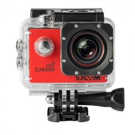Câmera de Ação filmadora WiFi- SJ4000 LCD 2 pol  - 12MP  - FHD Vermelha