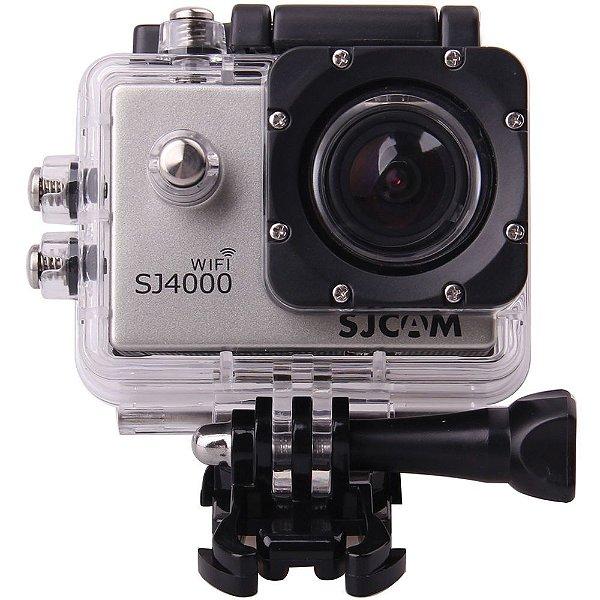 Câmera de ação e filmadora WiFi -SJ4000 LCD 2pol -12MP- FHD Prata