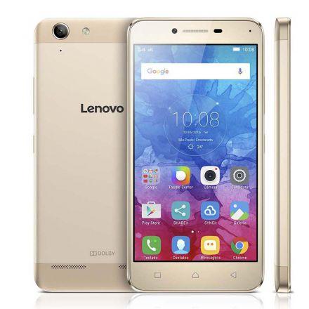 """Smartphone Lenovo Vibe K5 Dual Chip Android Tela 5"""" 16GB 4G Câmera 13MP - Dourado"""