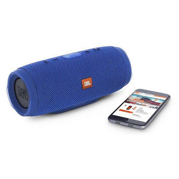 Caixa de som Speaker JBL Charge 3 Portátil Bluetooth À Prova D'água Azul
