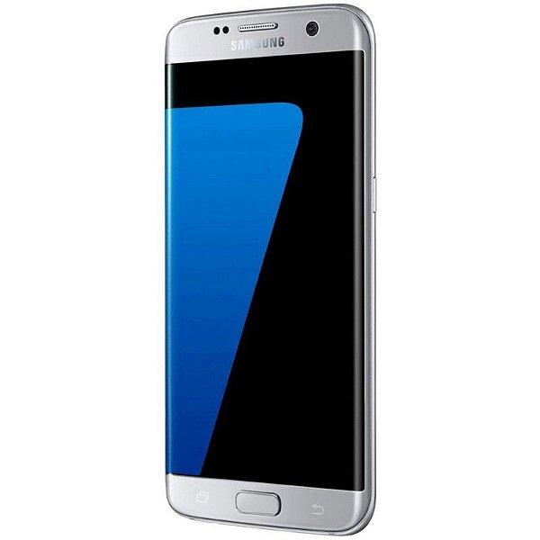"Smartphone Samsung Galaxy S7 Edge 32GB LTE Dual Sim Tela 5.5"" QHD Câm.12MP+5MP- Prata"