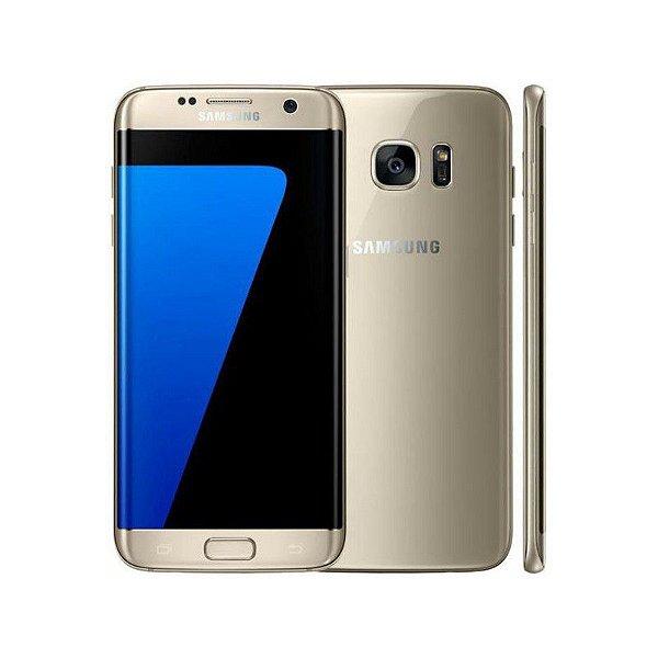"Smartphone Samsung Galaxy S7 Edge 32GB LTE 2 Sim Tela 5.5"" QHD Câm.12MP+5MP- Dourado"