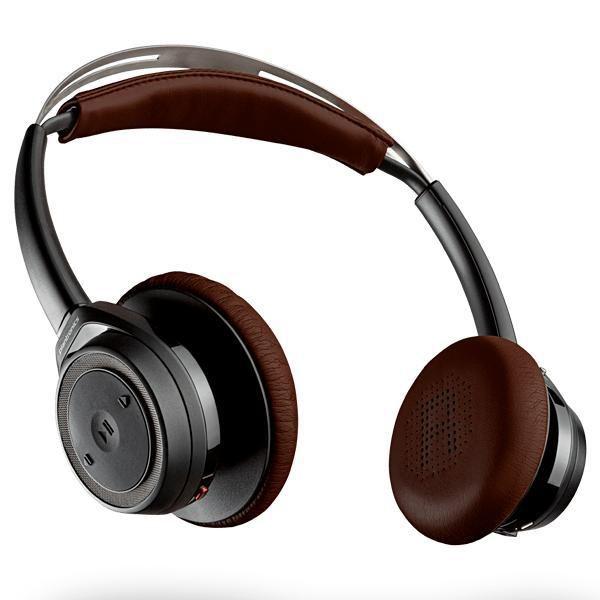 Fone de Ouvido Sem Fio Plantronics BackBeat Sense com Bluetooth v.4.0 - Preto/Marrom