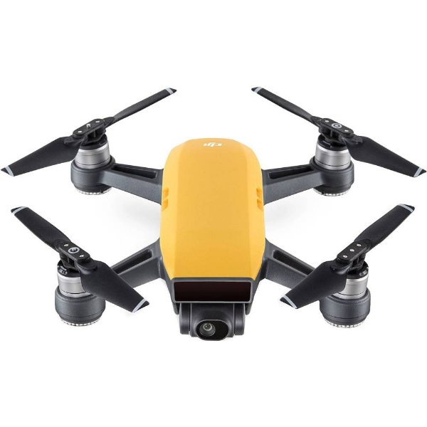 KIT DRONE DJI SPARK FULL HD AMARELO