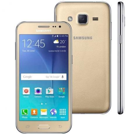 "SMARTPHONE SAMSUNG GALAXY J2 G. PRIME PLUS G532M 5.0"" 8GB 1.5GB RAM DUAL 4G LTE DOURADO"