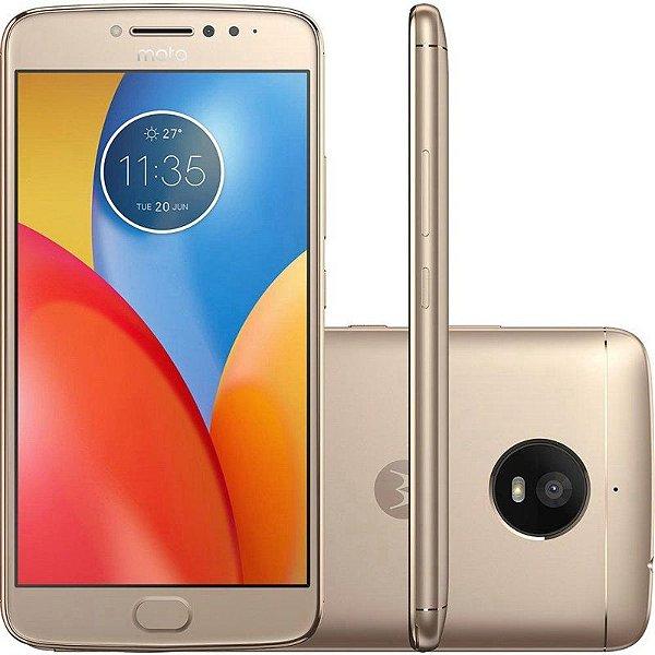 """Smartphone Motorola Moto E4 Plus XT1771 3GB+16GB LTE Dual Sim 5.5""""Câm.13MP+5MP-Dourado"""